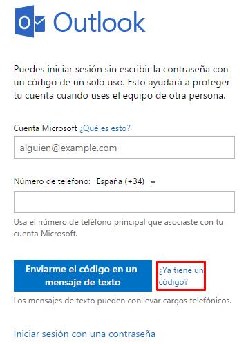 Cómo iniciar sesión en Hotmail sin contraseña c