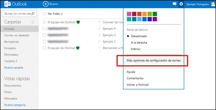 Hotmail convertido en Outlook