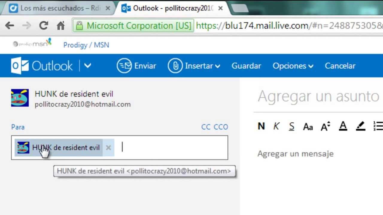 Cómo usar plantillas para enviar mensajes de correo en Hotmail
