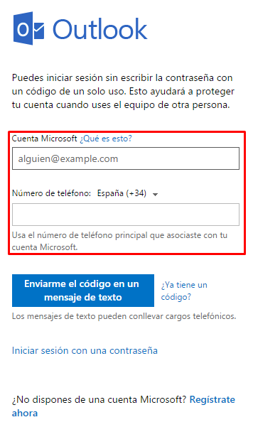 Cómo iniciar sesión en Hotmail sin contraseña b