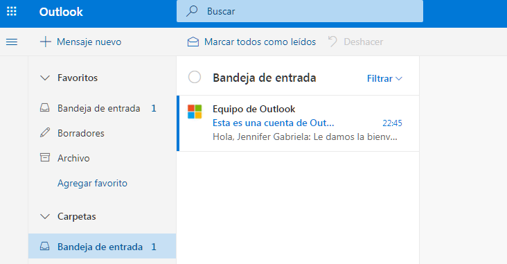 crear outlook 6
