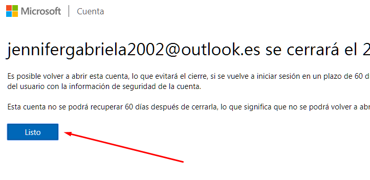 dar de baja outlook 12